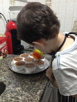 Victinho e cupcakes