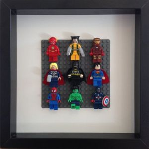 quadro bonecos lego