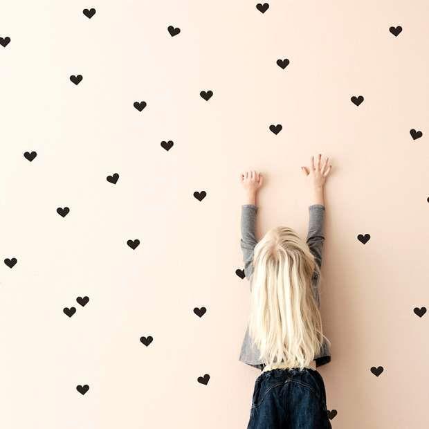 parede coração meninas